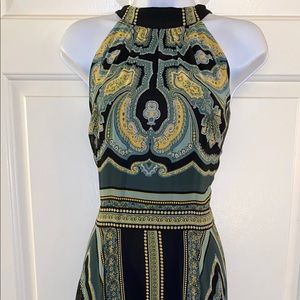 NY&Co Scarf Print Handkerchief Hem dress size L